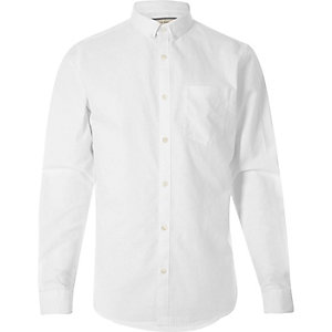 Chemise Oxford Big & Tall blanche casual