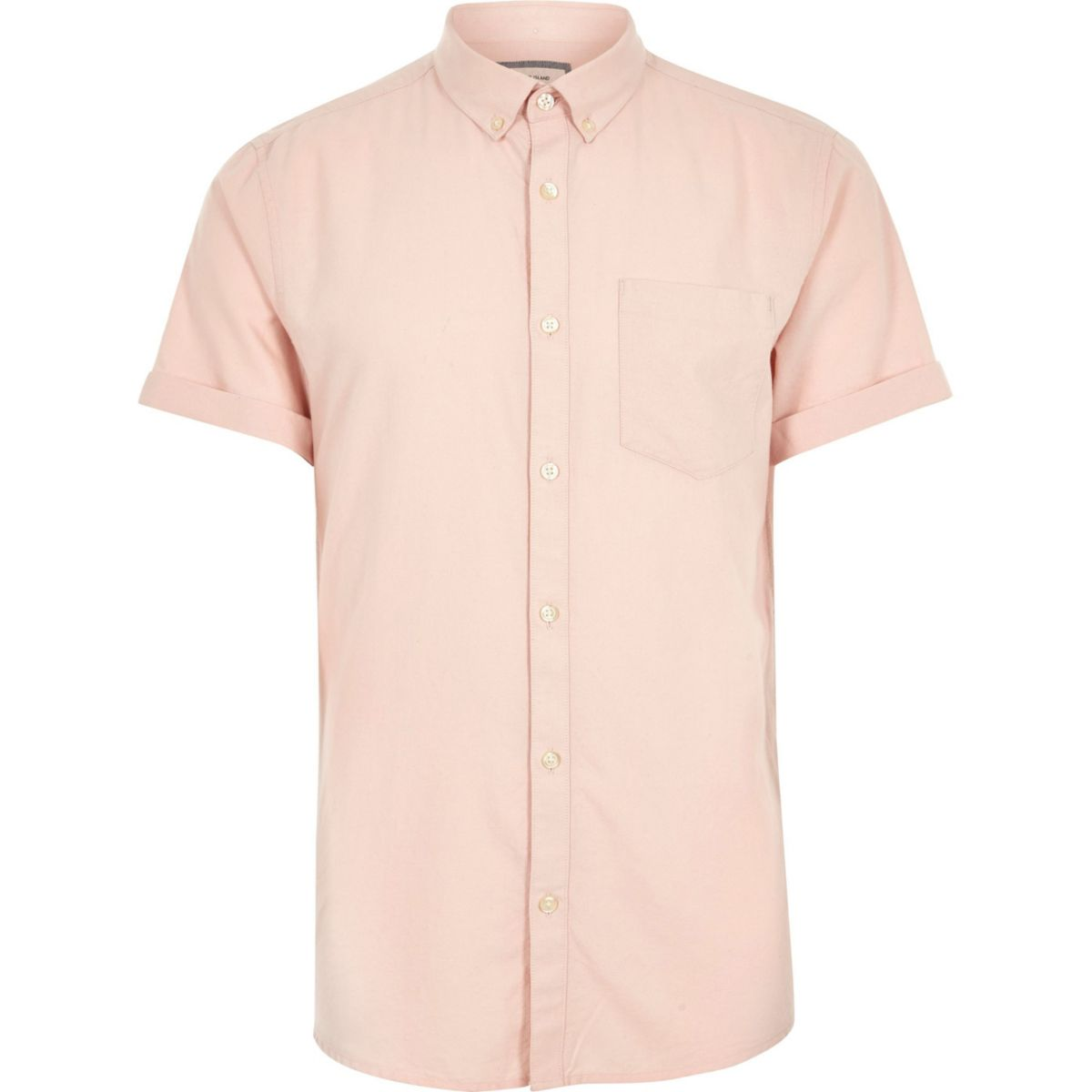 Big and tall pink short sleeve oxford shirt shirts for Mens short sleeve oxford shirt