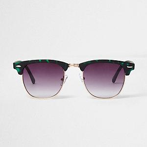 Retrosonnenbrille aus grünem Schildpatt
