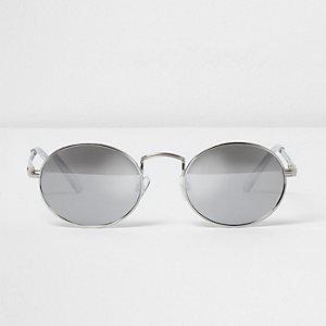 Silver tone round sunglasses