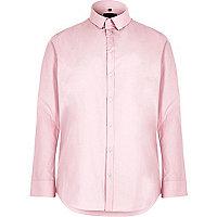 Big and Tall pink slim fit smart shirt