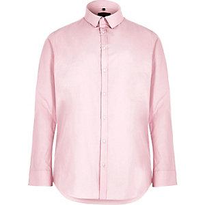 Chemise Big & Tall rose coupe slim habillée