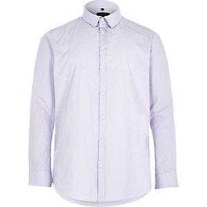 Big & Tall – Elegantes Slim Fit Hemd in Lila