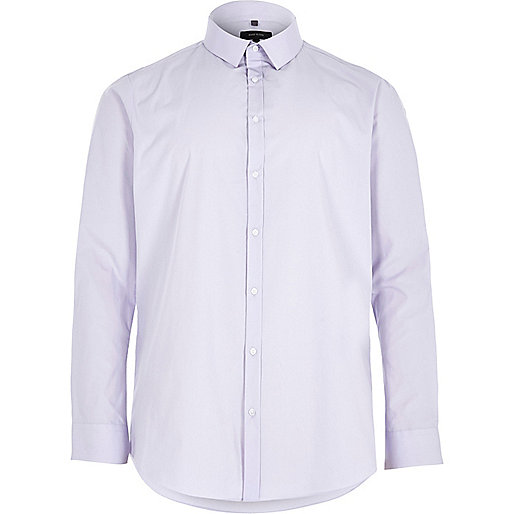 Big and Tall purple slim fit smart shirt