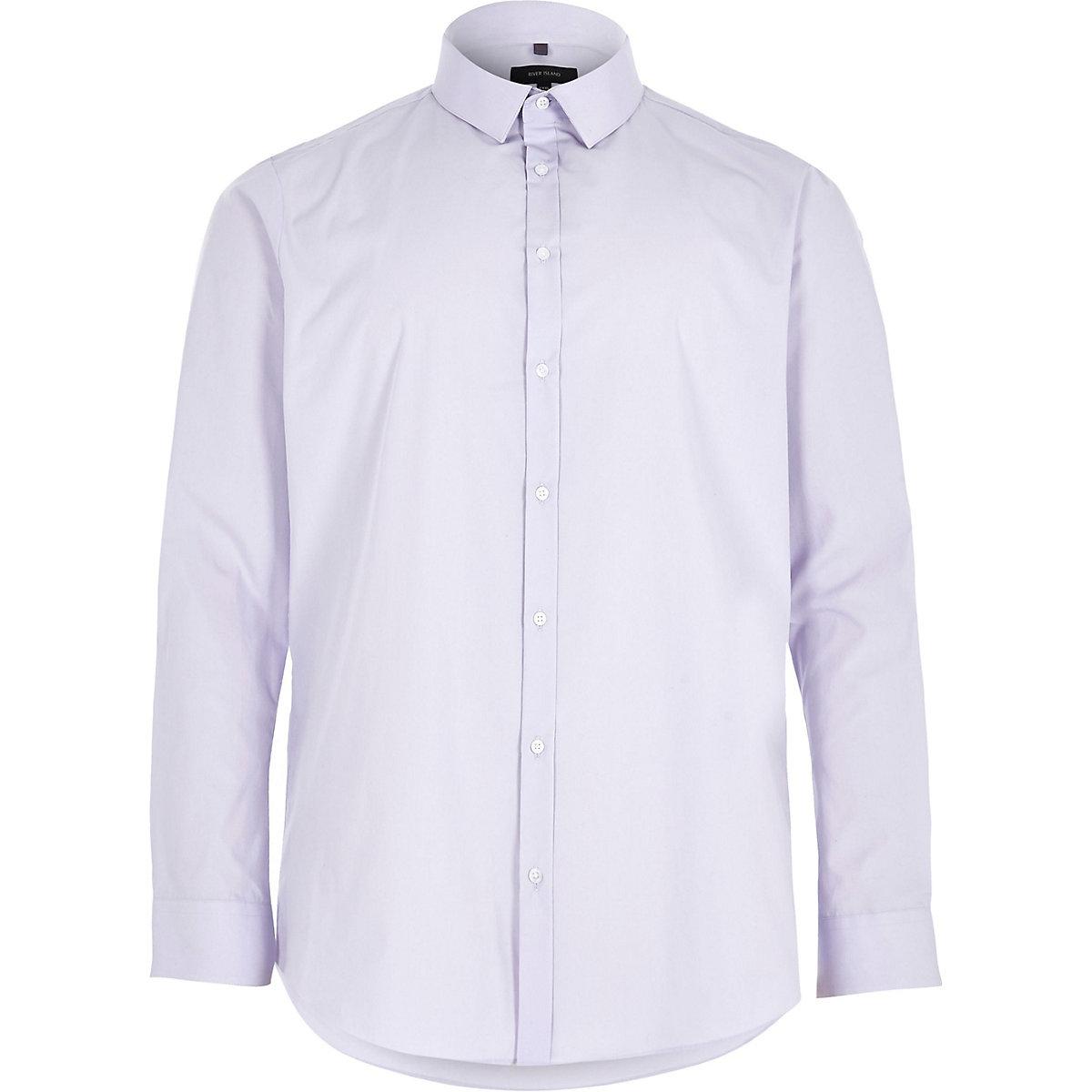 Big and Tall purple slim fit smart shirt