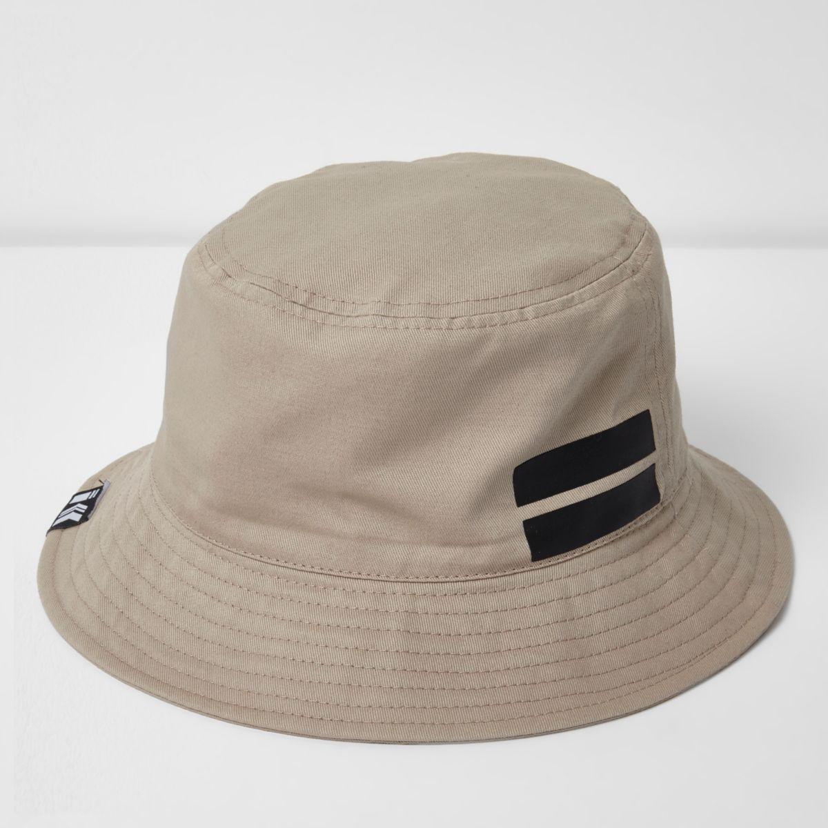 Stone sporty bucket hat