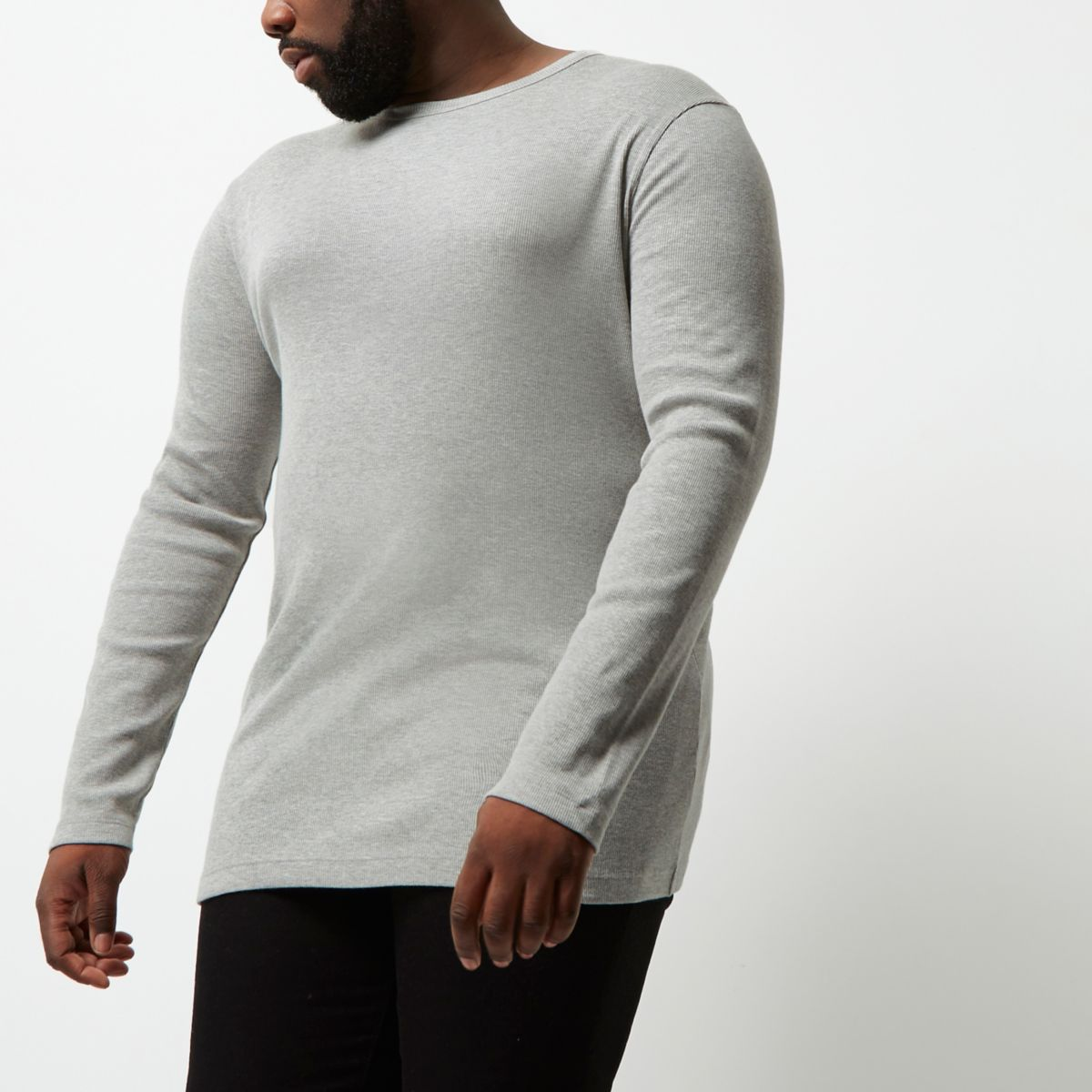 big and tall grey long sleeve t shirt t shirts vests