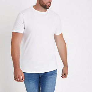 T-shirt Big & Tall blanc ajusté