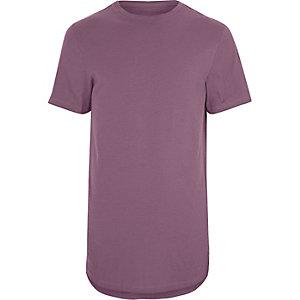 Big & Tall pink roll sleeve T-shirt