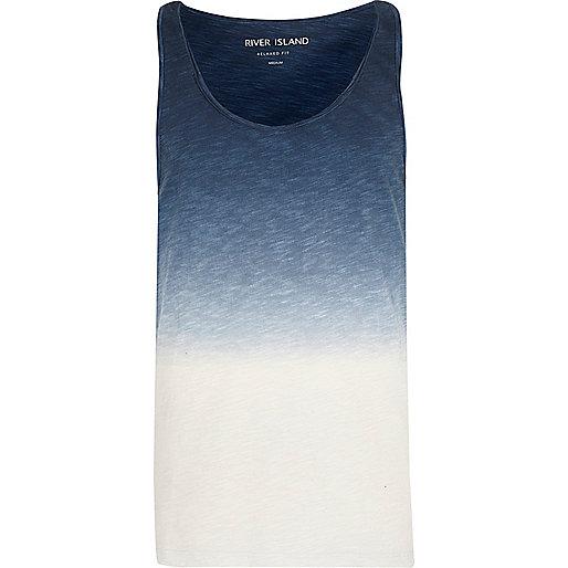 Blue dip dye casual tank