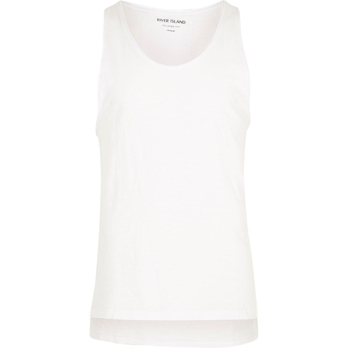 White distressed casual vest