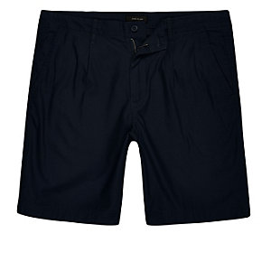 Short en coton bleu marine