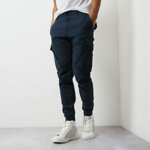 Navy cargo pocket joggers