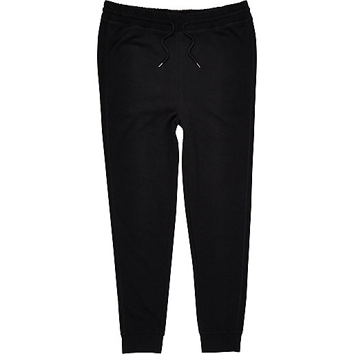 Big and Tall black jersey joggers