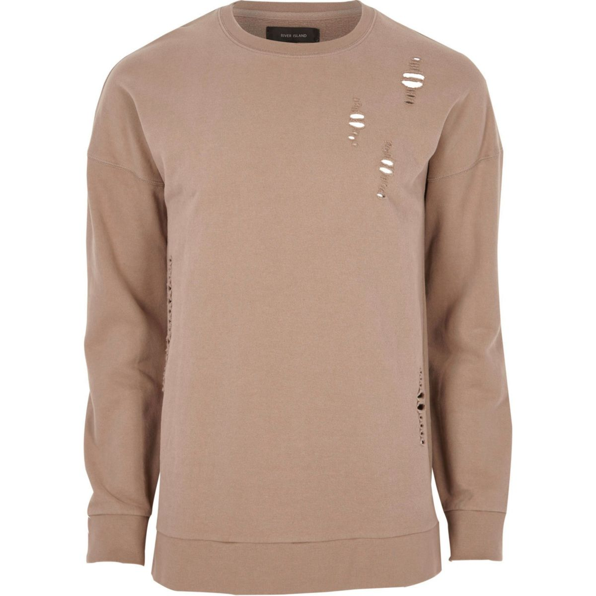 Sweat Big & Tall rose foncé aspect usé