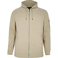 Big and Tall stone zip front hoodie