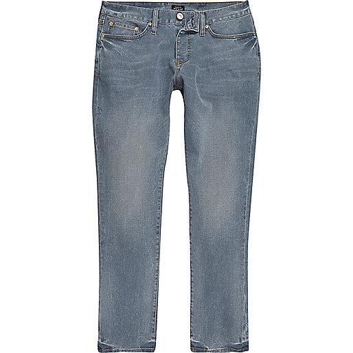 Mid dusty blue Dylan slim cut jeans