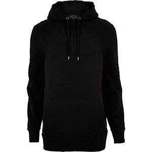 RI Big and Tall - Zwarte zachte hoodie