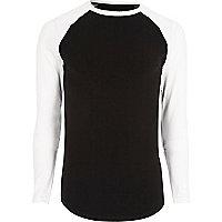 Big and Tall black raglan sleeve T-shirt