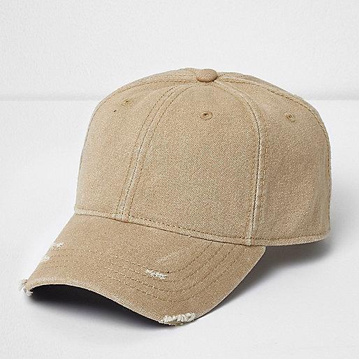 Stone distressed cap