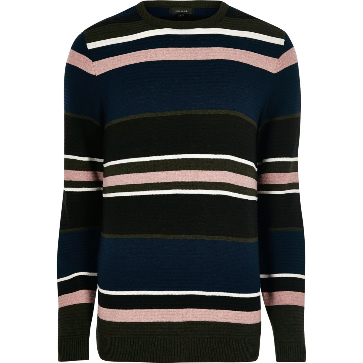 Black stripe slim fit sweater