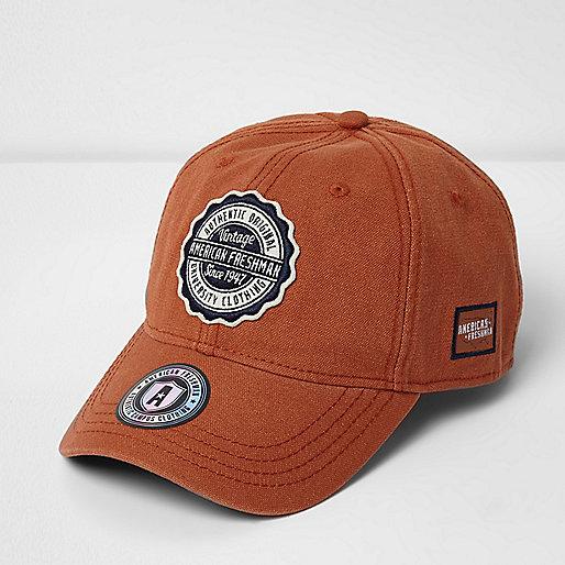 Orange American Freshman cap