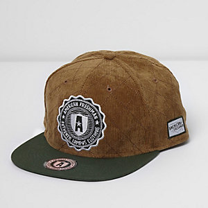 Light brown American Freshman flat peak cap
