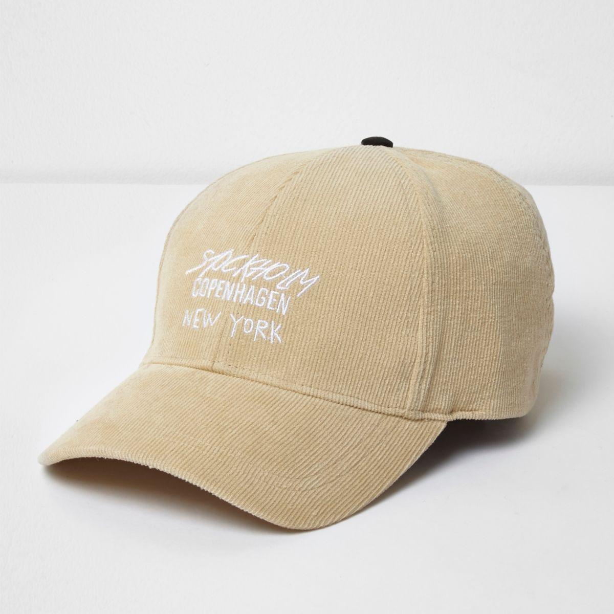Yellow 'Copenhagen' embroidered cap
