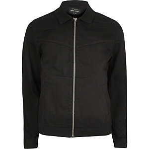 Black western harrington jacket