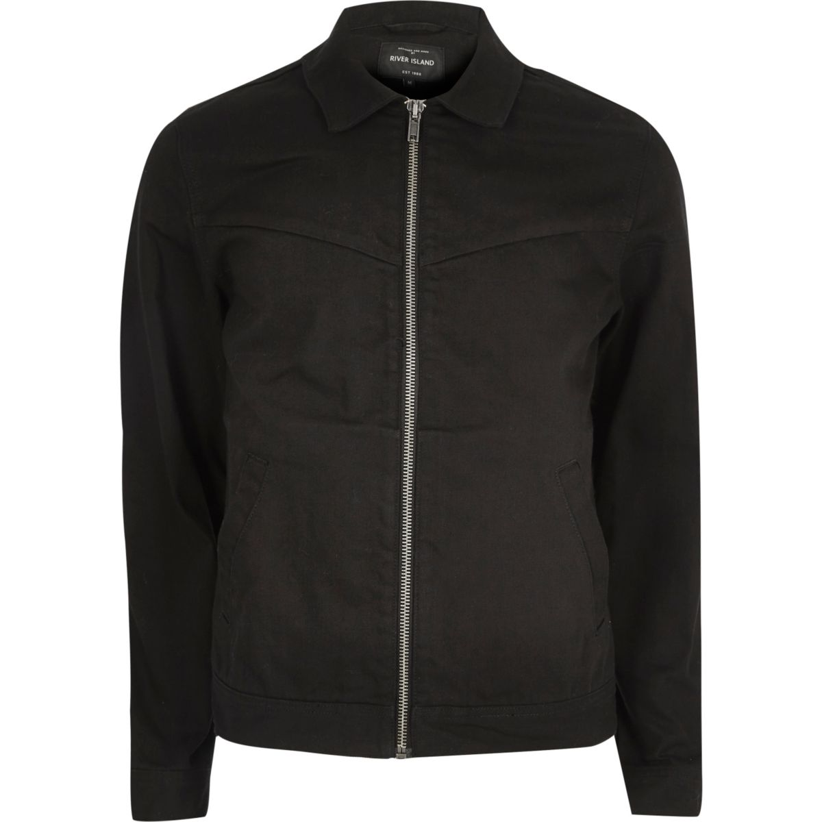 Black western harrington jacket