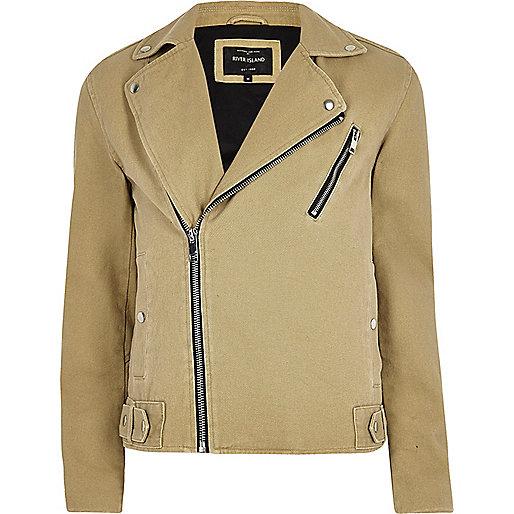 Light brown biker jacket