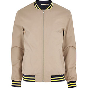 Light brown bomber jacket
