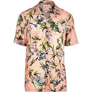 Big & Tall – Pinkes, kurzärmliges Hemd