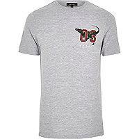 Grey dinosaur print T-shirt