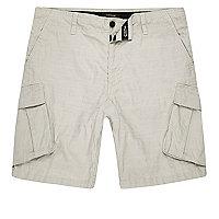 Stone cargo shorts