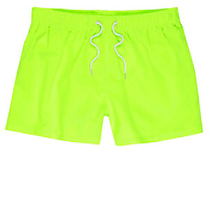 Green fluro swim trunks