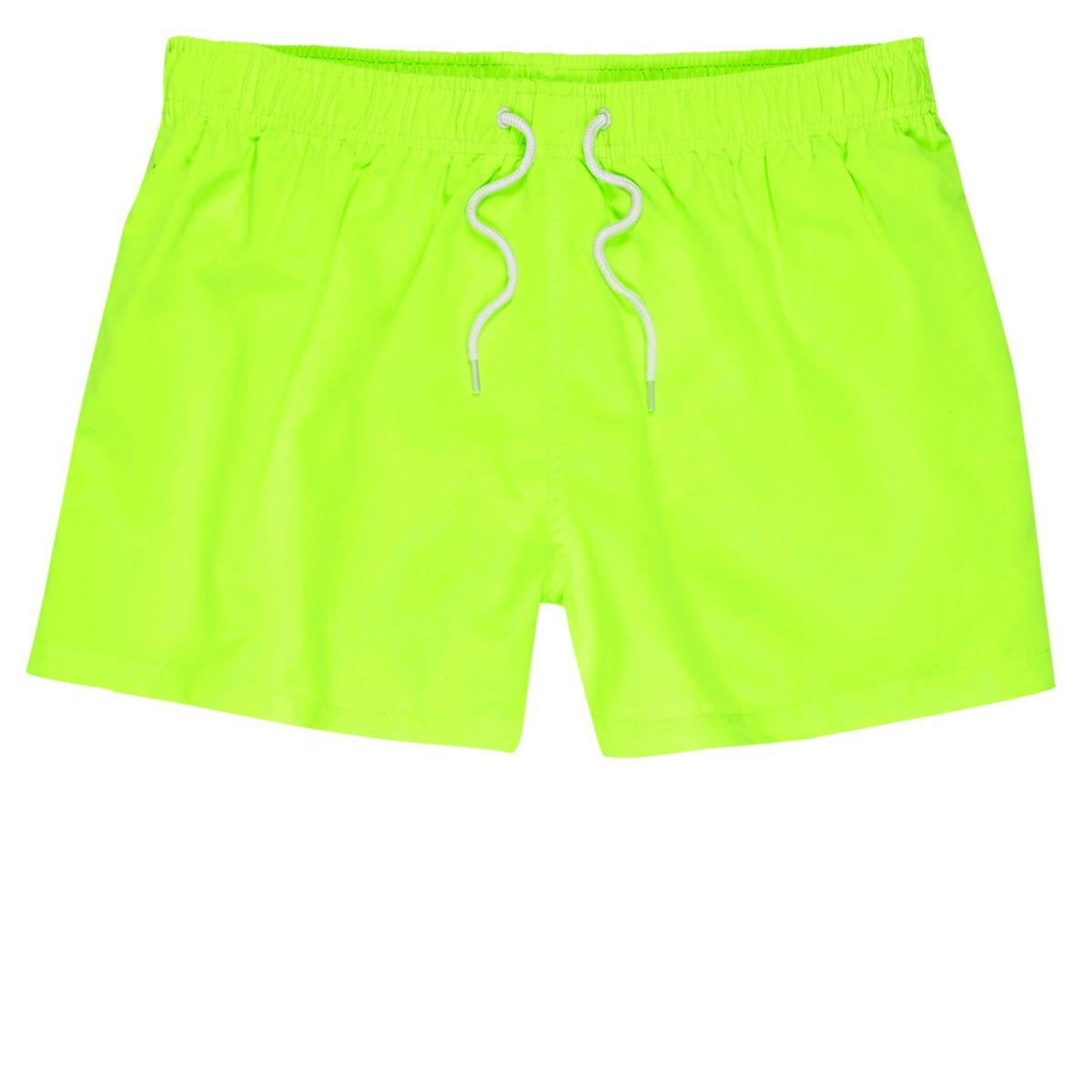 Green fluro swim trunks