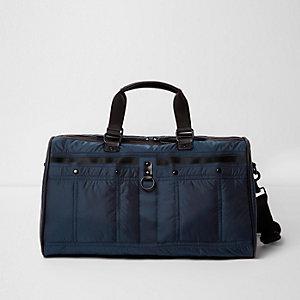 Marineblaue Puffer-Reisetasche