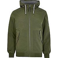 Green Jack & Jones lightweight hooded jacket
