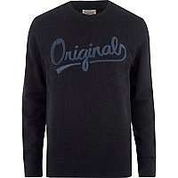 Blue Jack & Jones print sweatshirt
