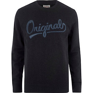 Blue Jack & Jones print sweatshirt