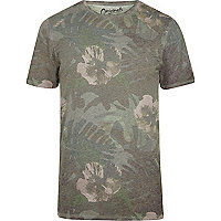 Green Jack & Jones floral print T-shirt