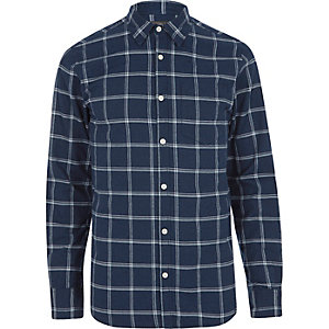 Blue Jack & Jones check shirt