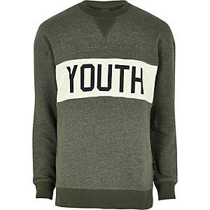 Jack & Jones – Dunkelgrünes Sweatshirt