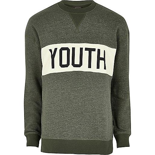 Dark green Jack & Jones print sweatshirt