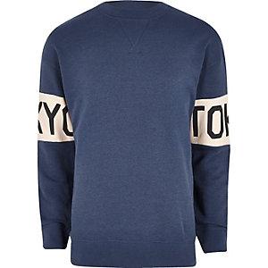 Dark blue Jack & Jones 'Tokyo' sweatshirt
