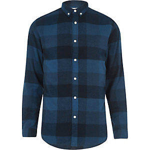Dark blue Jack & Jones check shirt