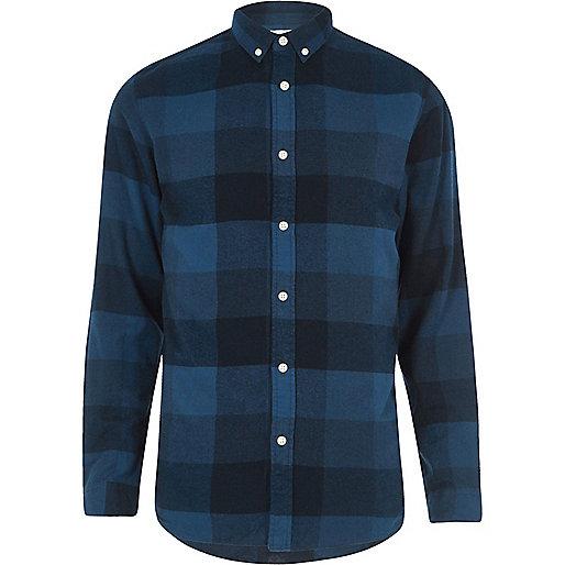 Dark blue Jack & Jones check shirt