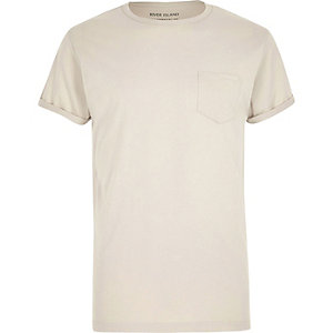 Big and Tall stone crew neck T-shirt