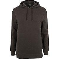 Dark grey long sleeve hoodie